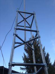 8 Meter - Schnellbau Antennenmast